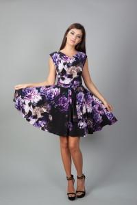 Rochie din lycra cu modele florale
